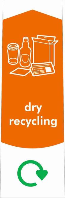 Slim Waste Stream Sticker - Dry Recycling