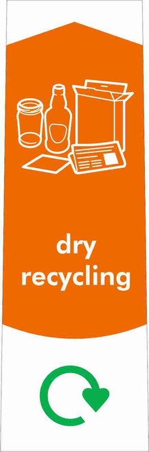 Slim Waste Stream Sticker - Dry Recycling