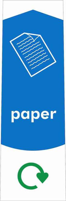 Slim Waste Stream Sticker - Paper