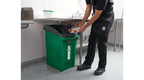 Rubbermaid Slim Jim Under Counter Container 87 L - Green