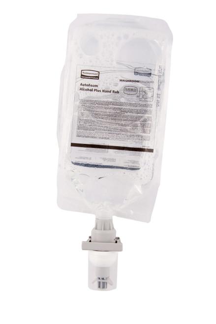 Rubbermaid  Black/Chrome Autofoam Dispenser & Alcohol Plus Hand Rub Bundle