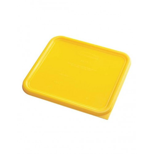 Rubbermaid Square Container Lid - Small Yellow