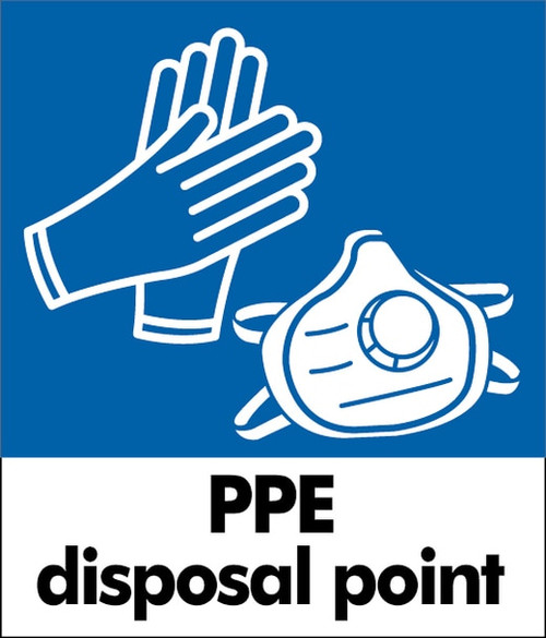 PPE Waste Sticker - Small