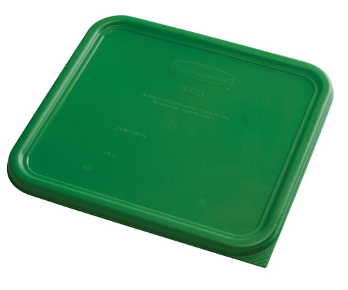 Rubbermaid Square Container Lid - Large Green
