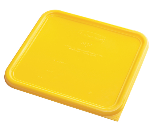 Rubbermaid Square Container Lid - Large Yellow