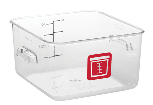 Rubbermaid Square Container - Clear - 3.8L Red