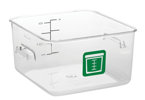 Rubbermaid Square Container - Clear - 3.8L Green