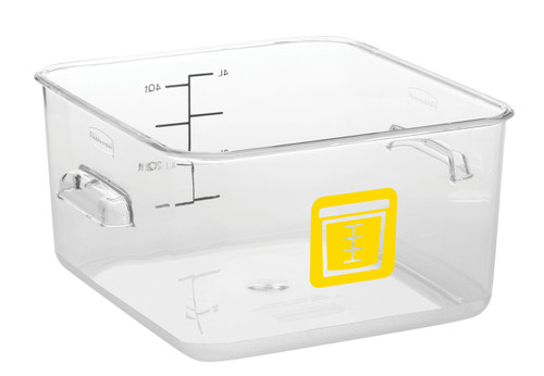 Rubbermaid Square Container - Clear - 3.8L Yellow