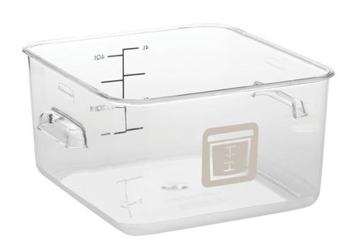 Rubbermaid Square Container - Clear - 3.8L Brown