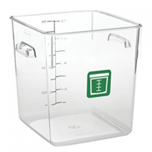 Rubbermaid Square Container - Clear - 7.6L Green