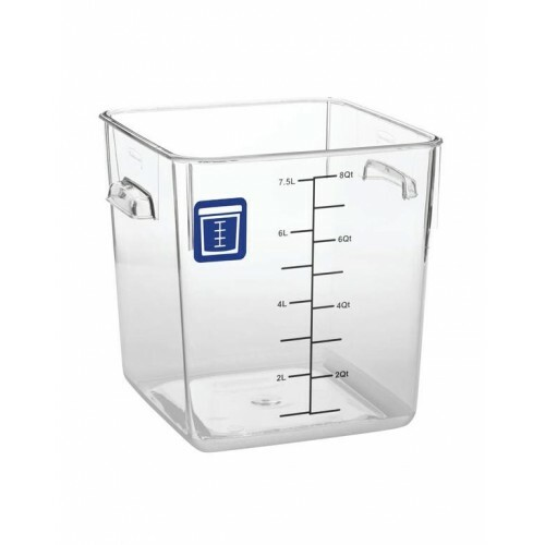 Rubbermaid Square Container - Clear - 7.6L Blue
