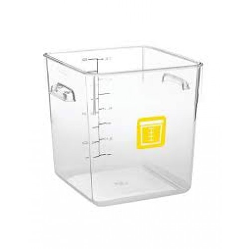 Rubbermaid Square Container - Clear - 7.6L Yellow