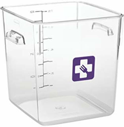 Rubbermaid Square Container - Clear - 7.6L Purple