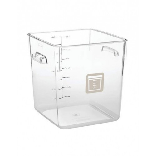 Rubbermaid Square Container - Clear - 7.6L Brown