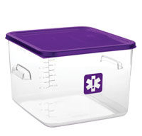 Rubbermaid Square Container - Clear - 11.4L  Purple