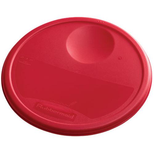 Rubbermaid Round Container Lid - Medium Red