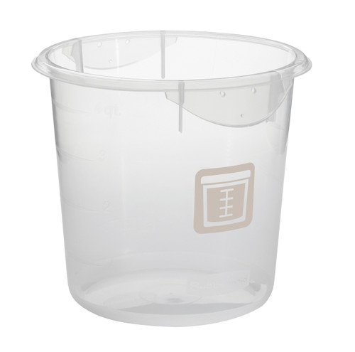 Rubbermaid Round Container - Clpp - 3.8L Brown