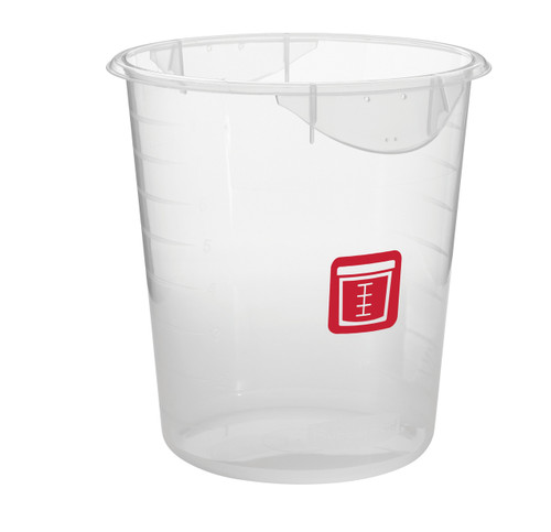 Rubbermaid Round Container - Clpp - 7.6L Red