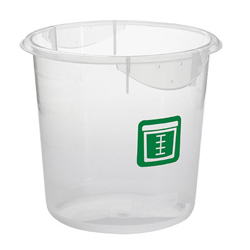 Rubbermaid Round Container - Clpp - 7.6L Green