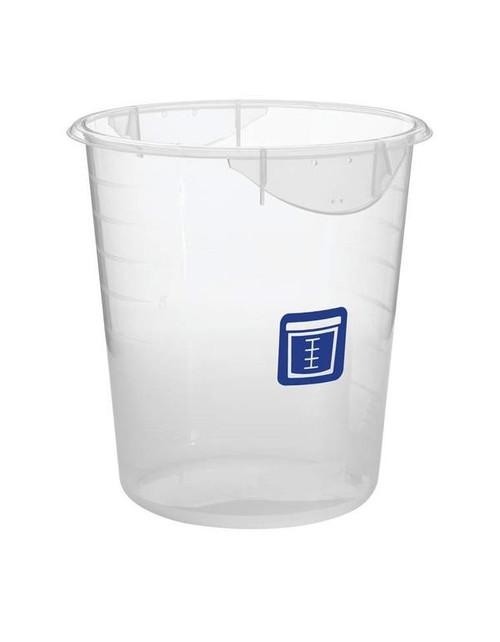 Rubbermaid Round Container - Clpp - 7.6L Blue