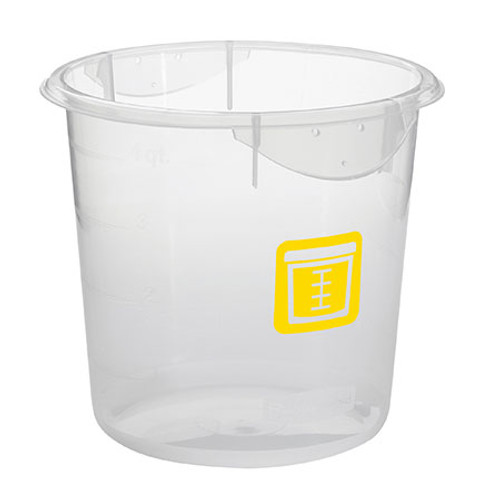 Rubbermaid Round Container - Clpp - 7.6L Yellow