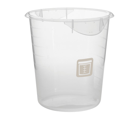 Rubbermaid Round Container - Clpp - 7.6L Brown