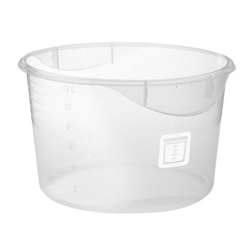 Rubbermaid Round Container - Clpp - 11.4L  White