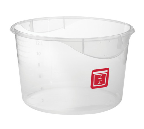 Rubbermaid Round Container - Clpp - 11.4L  Red