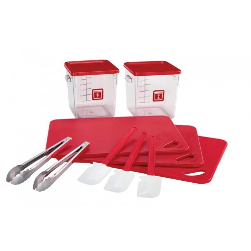 Rubbermaid Food Solution 12 Piece Red Kit