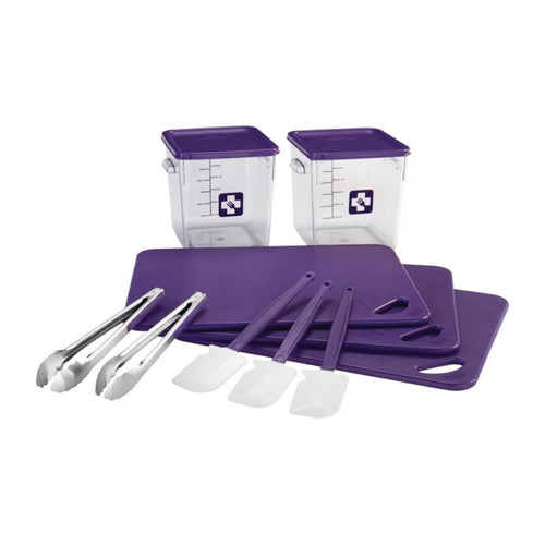 Rubbermaid Food Solution 12 Piece Purple Kit