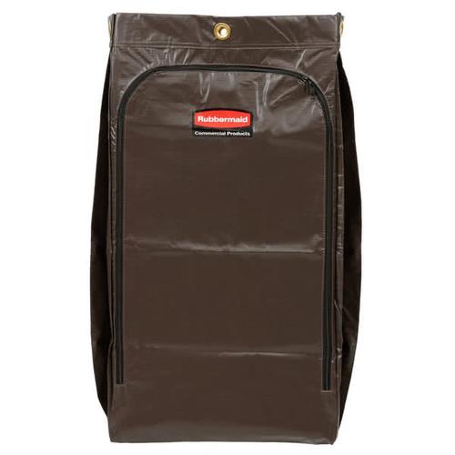 Rubbermaid Janitorial Cleaning Cart Vinyl Bag 34 Gal Brown
