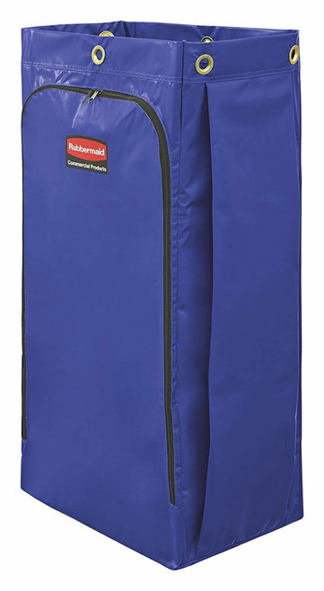 Rubbermaid Janitorial Cleaning Cart Vinyl Bag 34 Gal Blue