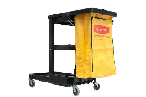 Rubbermaid Janitor Cart 4 Swivel Casters