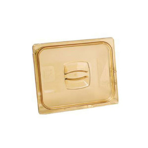 Rubbermaid Hard Cover 1/2 With Peg Hole - Amber