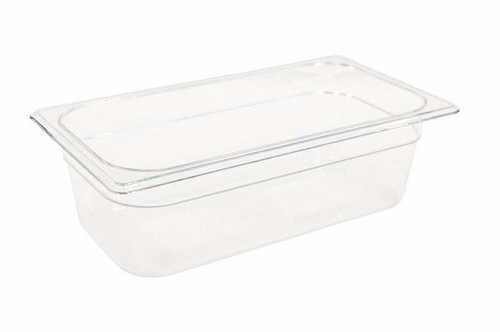 Rubbermaid Gastronorm Food Pan 1/3 100 mm - Clear - FG117P00CLR