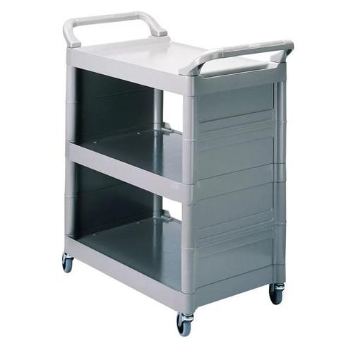 Rubbermaid Utility Cart Closed 2 Sides - Platinum