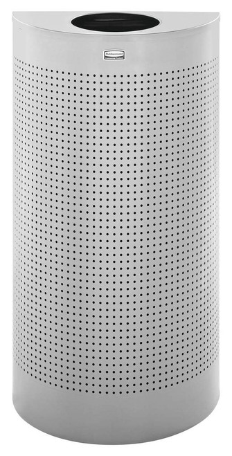 Rubbermaid Silhouette Half Round With Plastic Liner 45 L