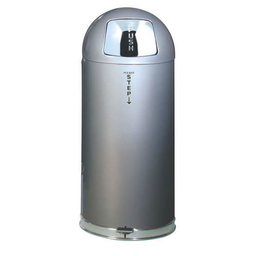 Rubbermaid Easystep Bin With Galvanised Liner 56 L