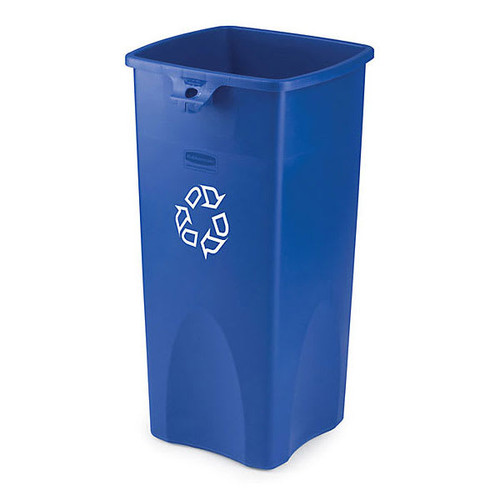 Rubbermaid Square Container - Recycling 87 L - Blue