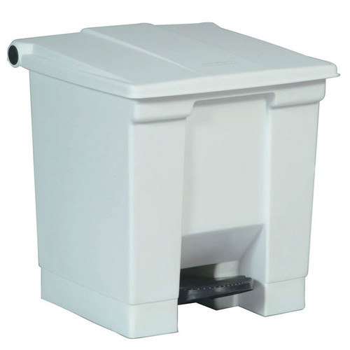 Rubbermaid Step-On Container 30L White