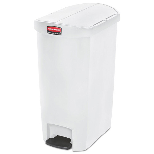 Rubbermaid Slim Jim 50L Resin End Step Step-On White