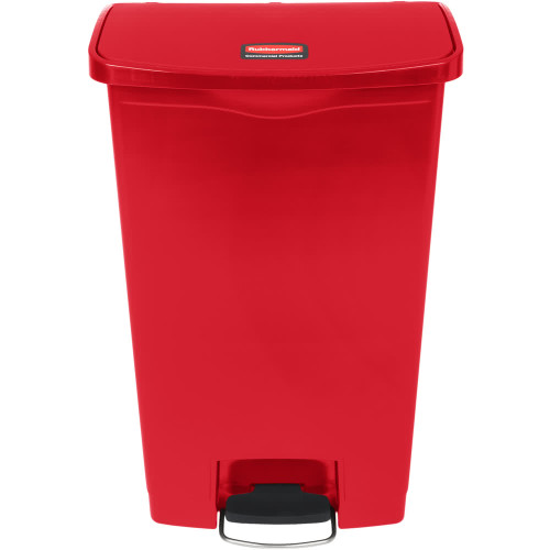 Rubbermaid Slim Jim 68L Resin Front Step Step-On Red