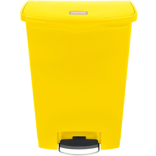 Rubbermaid Slim Jim 90L Resin Front Step Step-On Yellow