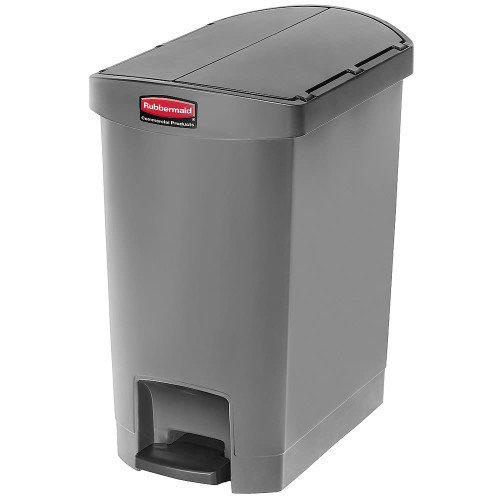 Rubbermaid Slim Jim 30L Resin End Step Step-On Gray