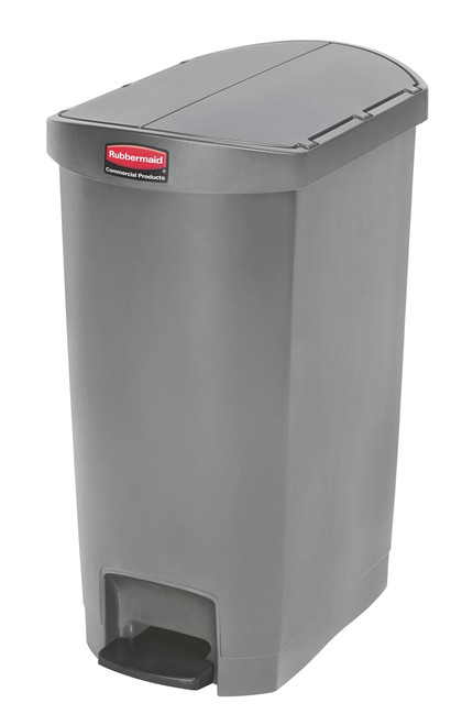 Rubbermaid Slim Jim 50L Resin End Step Step-On Gray