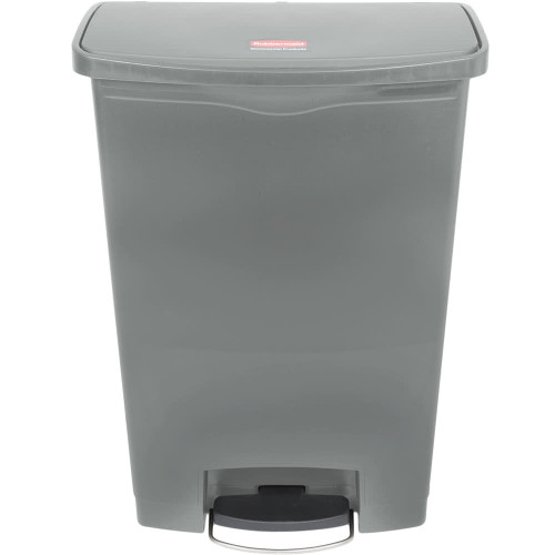 Rubbermaid Slim Jim 90L Resin Front Step Step-On Gray