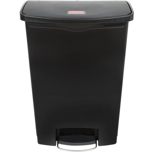 Rubbermaid Slim Jim 90L Resin Front Step Step-On Black