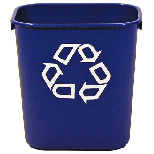 Rubbermaid Rectangular Wastebasket 12.9 L - Blue