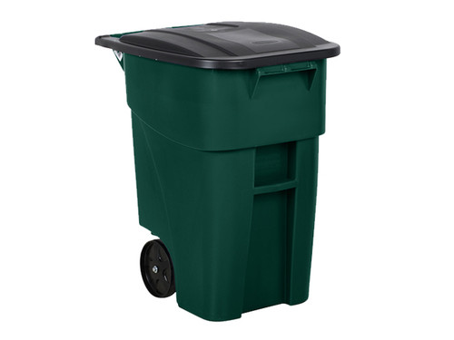 Rubbermaid Brute Rollout Container 189L Green