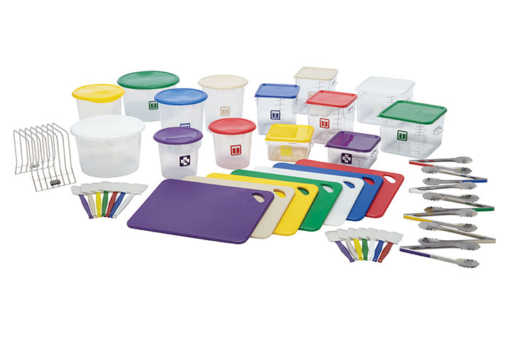 Rubbermaid Colour Coded Catering Equipment